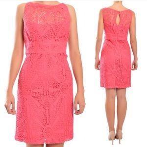 Crochet Dress Hot Pink